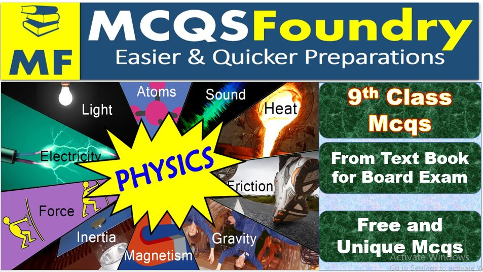 Top 9th Class Physics Subject Mcqs Pdf Download