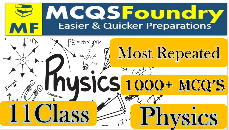 Physics Mcqs For Class 11 with Answers PDF Download Chapter No 1